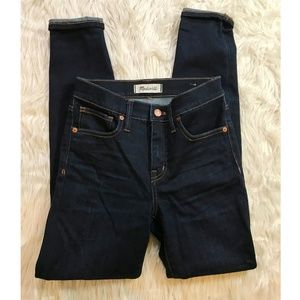 "Madewell 25 9"" High Rise Dark Denim jeans"